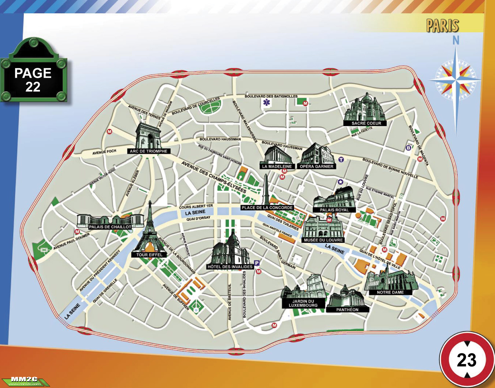 Map Of Landmarks In Paris Paris Tourist Attractions Map City Map – Paris Tourist Map Pdf